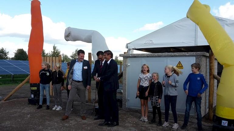 Opening Zonnepark in de media